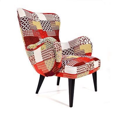 Fauteuil Nino Patch rouge - Millau Aveyron